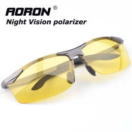 Wholesale Wholesale Night Driving Glasses - Wholesale-Polaroid Sunglasses Men Polarized Sun Glasses Driving Night Vision Goggles Glasses Windproof Eyeglasses Points for Driving S147A