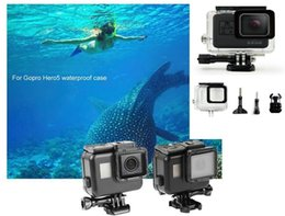 Wholesale Underwater Waterproof Camera - Black Waterproof Housing Case Touch Screen Back Door For Gopro Hero 6 Hero 5 Underwater Box For Go Pro Hero6 5 Camera Accessories