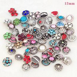 Wholesale Clasp Metal Mix - mix color 12mm Snaps Jewelry Button For DIY Bracelet Necklace Charms Snaps Charms free shipping noosa snap button charms 100pcs lots Metal
