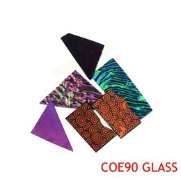 Wholesale fusing glass - 5bags lot Dichroic Glass COE90 Glass Fusing Microwave Kiln Kit-Fast Free Shipping
