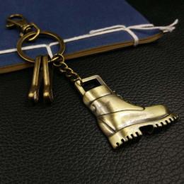 bronze galvanisieren Rabatt Retro-Stil Legierung Galvanik Bronze Keychain Metall Schlüsselanhänger Cartoon Schuhe Car Bag Anhänger Schlüsselanhänger