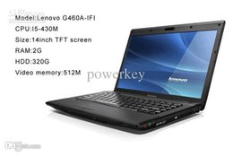 Wholesale Intel I5 Pc - New Laptop PC Lenovo G460A-IFI Intel I5 14inch Laptop PC 2GB RAM 320GB HDD Computers Black silver Color free DHL