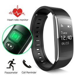 Wholesale Golden Pro - i6 Pro Smart Wristband Bracelet Heart Rate Sport Tracker Bluetooth 4.0 Banda Inteligente Smart Band For Android IOS PK xiaomi band 2