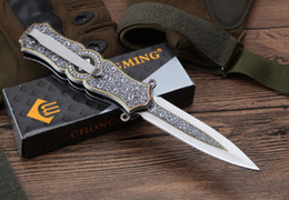 Wholesale Assisted Pocket Knives - Excellent tactical knife Assisted to open folding knife 3 d design A pocket knife wholesale Free freight