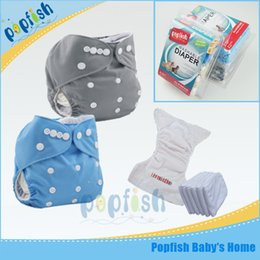 Wholesale Christmas Aio Cloth Diaper - Printed PUL AIO Baby Cloth Diaper Kids Adjustable Diaper Baby Changeable Nappy Kids Diapers Free Shipping