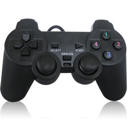 Wholesale Padded Laptop - PC Wired USB Joypad Game pad Gamepad Joystick Controller Control With Double Shock Support XP   Win7 for PC Laptop etc