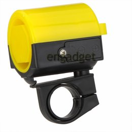Wholesale Bicycle Bell Horn - Ultra-loud MTB Road Bicycle Bike Electronic Bell Horn Cycling Hooter Siren Accessory Blue Yellow Black Red White 00541