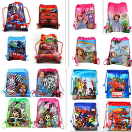 Wholesale Cheap Children Handbag - New Designer Drawstring Backpacks Kids Handbags Children Cartoon School Bags Popular Cheap Shopping Bag Travel Bag