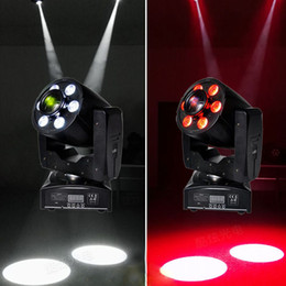 Wholesale Spot Moving Head Light Wash - Wholesale- 2pcs lot 30W Spot+6X8W RGBW 4in1 LED Wash Moving Head Light 30W LED Colorful Spot And 6x8W LED Wash RGBW Moving Head DJ Lights