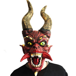 Wholesale Fancy Dress Dragon - New Halloween Cosplay Realistic Full Head Fancy Dress Latex Dragon Mask for Adult Party Halloween Christmas Masquerade Mask