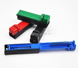 Wholesale Cigarette Tube Rollers - Plastic Rolling Injector Rolling Machine For 8MM Tube Automatic Tobacco Roller Cigarette Maker Tubes Handroll Portable
