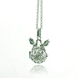 Wholesale Music Peace - Fashion Pendants Necklace Baby Chime Music Hall Silver Plated Double Peace Dove Cage Necklace For Women Jewelry