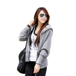 Wholesale Women Loose Grey Sweatshirts - M-4XL size free shipping 2015 Autumn new extra plus size long sleeve loose black grey sportswear women hoodies sweatshirts