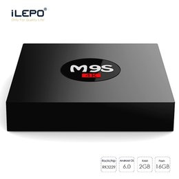 Wholesale hdmi set top box - M9S Android TV Box 2GB 16GB Rockchip RK3229 Quad Core 4K WIFI Bluetooth HDMI Media Player TV OTT Set Top IPTV Box