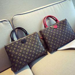 Wholesale Denim Business Casual - Lay Professional Women Commuting Business Briefcases PU Soft Handbag Single Shoulder Laptop Bag Business Casual European Style