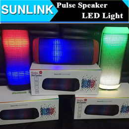 Wholesale Computer Sound Amplifier - Mini X2 X2U Pulse Bluetooth Portable Speakers Colorful LED Flash Light Stereo HD Subwoofer Amplifier Audio Support FM TF Card USB Handsfree