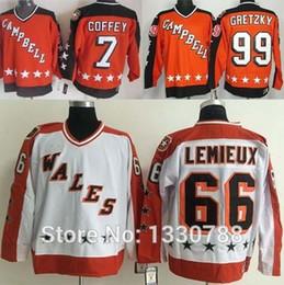 Wholesale Mario Stars - 2016 New, Vintage All Star Hockey Jerseys Pittsburgh Penguins Mario Lemieux White Wales Edmonton Paul Coffey Wayne Gretzky Orange Camp