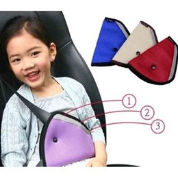 Wholesale Mesh Car Cushion - Protective Children Safety Belt Conditioner Applied Mesh Kids Safety Triangle Belt Holder Car Seat Heart Cushion Pad Auto Accessories SK556