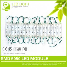 Wholesale Led Modulo - Wholesale-Free Shipping 50 pieces lot modulo led 5050 Low voltage 12V anti-static High Power Injection LED Modules Waterproof IP68 75*12mm