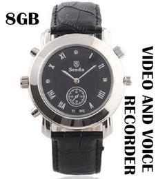 Wholesale 8g Watch Dvr - Spy watch camera built in 8GB memory mini hidden watch cam Camcorder Watch Video Recorder Hidden Watch Camera DVR