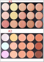 Wholesale Cheap Palettes - Wholesale Cheap 15 Colours Professional Facial Concealer Cream Foundation Makeup Camouflage Concealer Palette DHL free shipping
