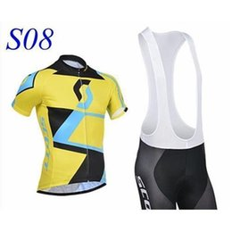 Wholesale Scott Clothes - new stylefactory NEW SCOTT Short Sleeve Cycling Jersey and Cycling Bib Shorts Kit SCOTT Cycling Clothing Set SIZE:XS-XXXXL S8