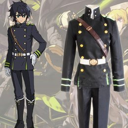 Wholesale Holloween Costumes Women - Wholesale-owari no seraph Cosplay Costume Seraph of the End Krul YuichiroHyakuya full set holloween costumes Outfits Women