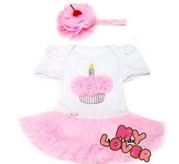 Wholesale Tutus Bebe - 10%OFF 2015 NEW ARRIVAL!Cupcake Infant Princess Dress Chiffon Headbands Set,1pcs dress+1pcs headband,Vestidos Para Bebe,BRAND Clothes .2pcs