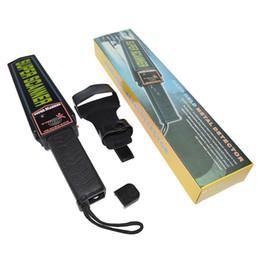 Wholesale Portable Hand Scanner - 50pcs Lot Hand Held Scanner Portable Security Metal Detector Scanner Metal Hunter Super Scanner MD-3003B1