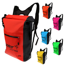 Wholesale Waterproof Canvas Rucksack - 25L Waterproof Dry Backpack Rucksack Kayak Canoe Boat Surfing Bag for Swimming Beach Waterproof Bag 001