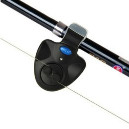 luci del campanello Sconti Allarme morso da pesca Outdoor LED Clip Light Canna da pesca Allarme morso elettronico Fish Ringer Battery Fishing Bell Accessori