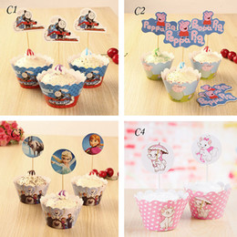 Wholesale Decoration Cake Boxes - Baking packaging Decorations cake decorations Cupcake Wrappers Many different types Cupcake Wrappers Colorful Wrappers Free Shipping