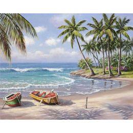 Argentina Paisaje marino bricolaje pintura al óleo digital por números dibujo abstracto 40X50cm paisaje pintura acrílico números de la lona pintura Suministro