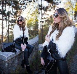Wholesale Slim Sheepskin Long Coat - 2018 Winter Fashion Slim Short Faux Fur Coat For Womens Long Sleeve Warm Short Imitation European Fur Jackets Plus Size Fur Vest FS3155