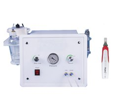 Wholesale Crystal Facial Machine - Professional Skin Peeling Crystal Microdermabrasion Facial Cleaning Machine + wireless MYM derma pen microneedle therapy