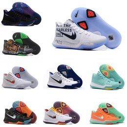 Wholesale Arrival Train - 2018 New Arrival Kyrie Irving 3 Signature Game Basketball Shoes for Top quality Blue duke Men's Sports Training Sneakers Size 40-46