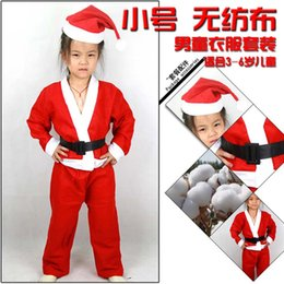 Wholesale Cheap Santa Claus Suits - Cheap small Santa Claus Suit kids clothes children clothing gifts Christmas gifts wholesale