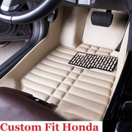 Wholesale Parts Honda Accord - For Honda Accord Civic CR-V Crosstour Element Fit HR-V High-quality leather car carpet automotive interior parts multi-color waterproof mats