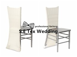Wholesale Wedding Chiavari Chair Wholesale - Best Quality Lycra Spandex Chair Chair Cover Fit On Chiavari Chair Free Shipping