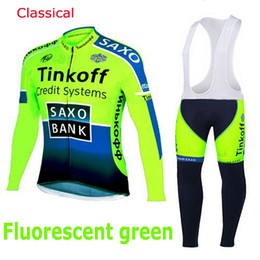 Wholesale thermals suits - Fleece Thermal for winter Saxo bank cycling jersey sport suit mountain bike ropa ciclismo bicycle MTB bicicleta clothing 3D gel pad BIB