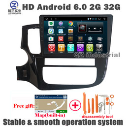 """Wholesale Mitsubishi Maps - QZ industrial 10.1""""HD Android 6.0 for Mitsubishi Outlander 2013-2017 Car DVD Player with 3G 4G WIFI Radio RDS GPS BT SWC Navigation free map"""