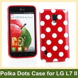 Wholesale Optimus L7 Ii Dual P715 - Wholesale Hot Polka Dots Soft TPU Gel Cover Case for LG Optimus L7 II Dual P715 Free Shipping