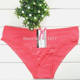 Wholesale Sexy Cozy Lingerie Panties - Wholesale-Cotton multi-color Sexy cozy comfortable Lace Briefs thongs women Underwear panties Lingerie for women 3pcs lot 86765