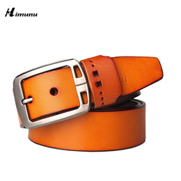 Wholesale Leather Belt Name Brands - 2015 New product mens belts luxury genuine leather brand name belt for men Pin jeans belts best quality male girdle