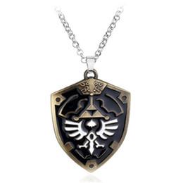 Wholesale Legend Zelda Accessories - Legend Of Zelda Necklace Pendant For Women Men Charm Necklace Collier Zelda Choker Statement necklace Accessories Collares