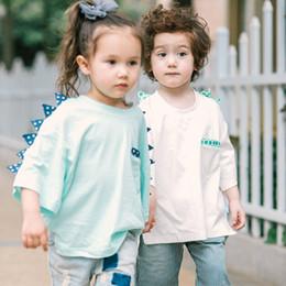 Argentina Can Custom 2017 nuevos niños camiseta de dinosaurio de algodón de manga corta para niños, ropa, niños y niñas Suministro