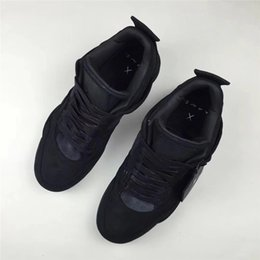 Wholesale Cool Shoe Brands - Kaws X Air Retro 4 Cool BLACK Suede Basketall Shoes For Men 2018 Limited Release Authentic Sneakers ORIGINAL Brand Bestsellers 40-47