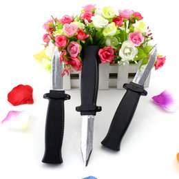Wholesale Toy Bayonet - April Fool's Day April Fool entire toy shrink retractable knife bayonet spoof the whole person Toys 31g