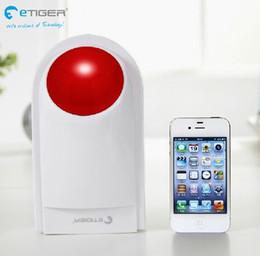 alarme de zone à la maison Promotion Livraison gratuite sirène extérieure 433 MHz SAC-07b 100 dB travailler avec gsm RFID système d'alarme maison etiger S4