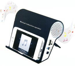 Wholesale Iphone 4s Sound Box - BK Mutual Induction Sound Player Music Speaker Box Holder for Iphone 4 4s 5&ipod